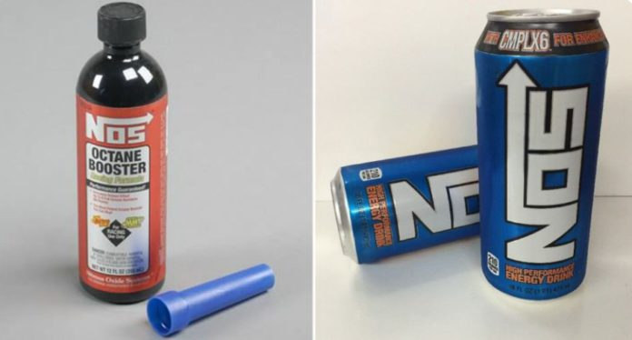 NOS racing formula and energy drink