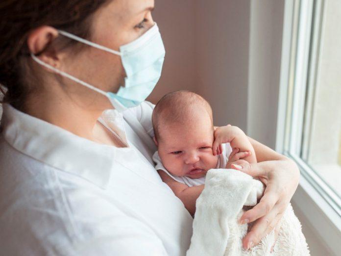 Coronavirus mutation in infected newborn